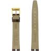 Gucci Watch Band 16mm Brown Crocodiledile Grain model 2000M - Main