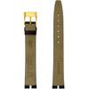 Gucci Watch Band 16mm Black Crocodiledile Grain model 2000M - Main
