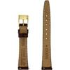 Gucci Watch Strap 13mm Brown models 2200L 3000L Crocodiledile Grain - Main back