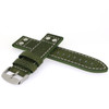Pilot Leather Watch Band in Green by Tech Swiss - Side View