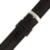 Black Alligator Grain Watch Band by Tech Swiss - Buckle View - Main