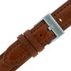 Leather Watch Band in brown by Tech Swiss - Buckle View