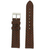 Genuine Leather Watch Band in Snake Grain and Quick Release - Top View
