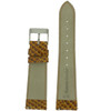 Watch Band in Snake Grain in Honey Brown by Tech Swiss - Bottom View - Main