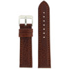 Genuine Leather Watch Band with Padding in Honey Brown - Top View