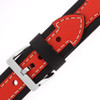 Sporty Leather Watch Band in Black and Orange by Tech Swiss - Buckle View