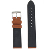 Leather Waterproof Sports Watch Band in Brown