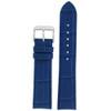 Blue Crocodile Grain Watch Band - Top View