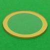Gold trim watch crystal