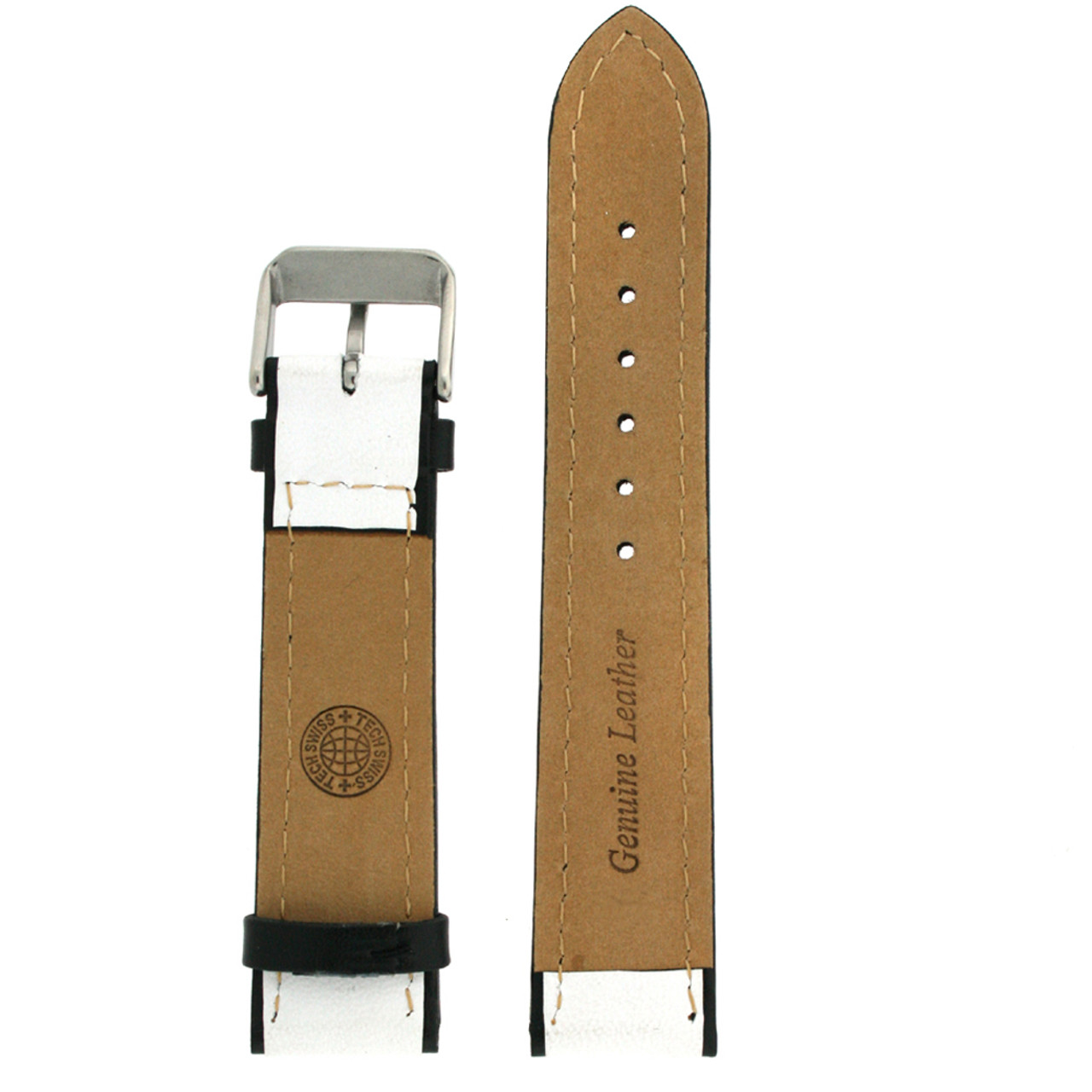 Sporty Watch band in white - interior view - Main