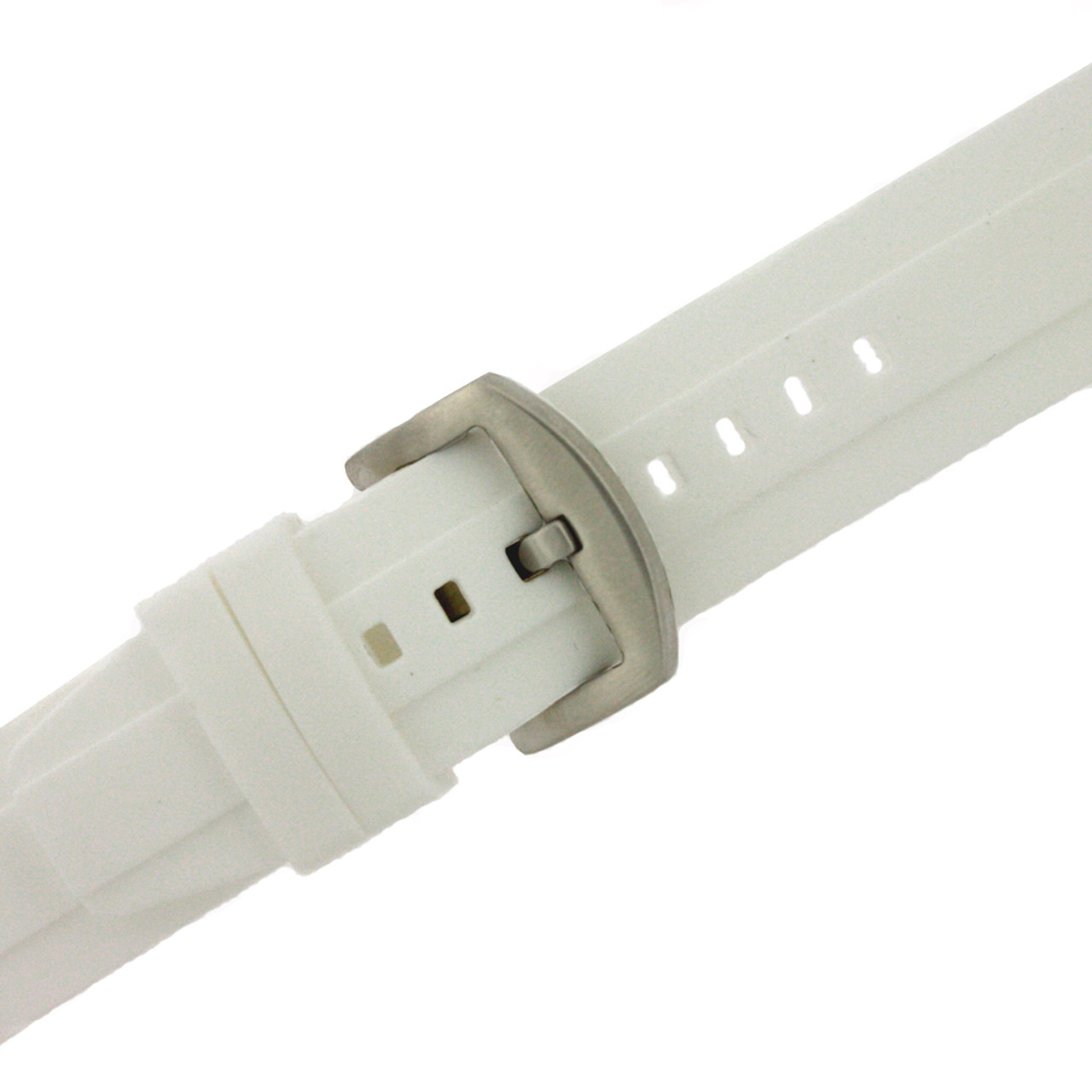 Silicone Rubber Watch Band White 24mm