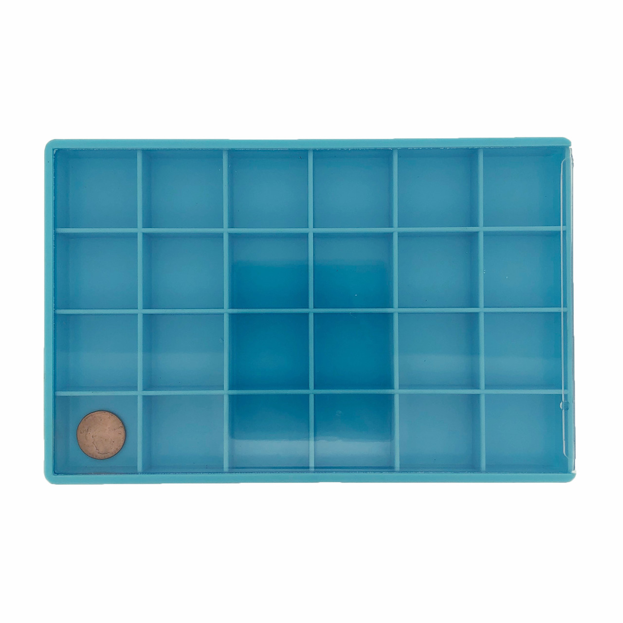 Storage Box 24 Compartment Craft Organizer Tray-Blue
