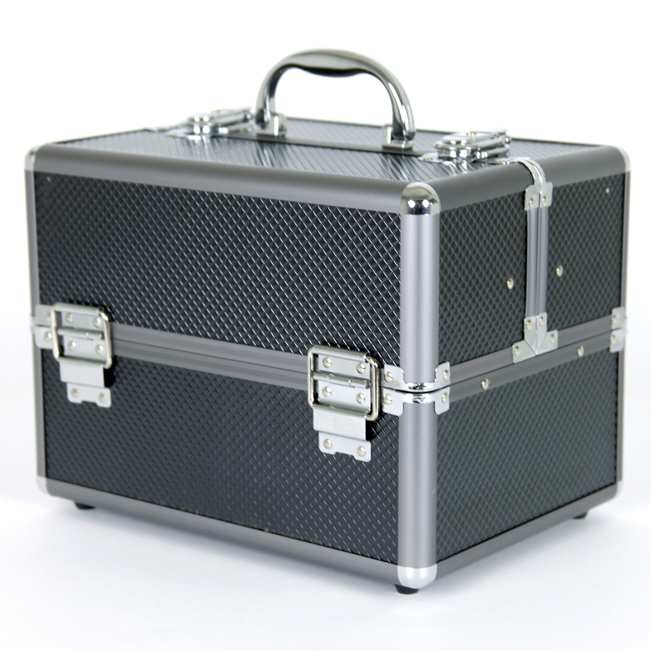 Aluminum Makeup Train Case to Store and Organize Makeup Jewels