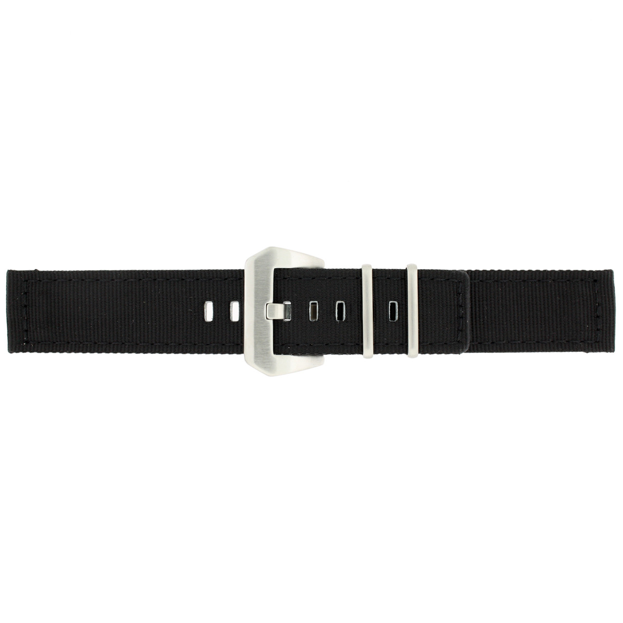Nylon Watch Band in Black by Tech Swiss - Side View - Main