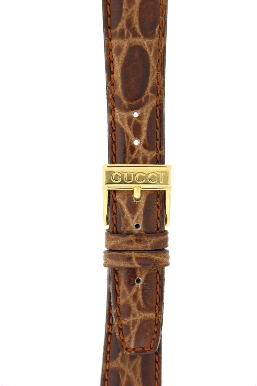 Gucci Watch Band 18mm Brown Genuine Leather model 5500M 5400M 7400M