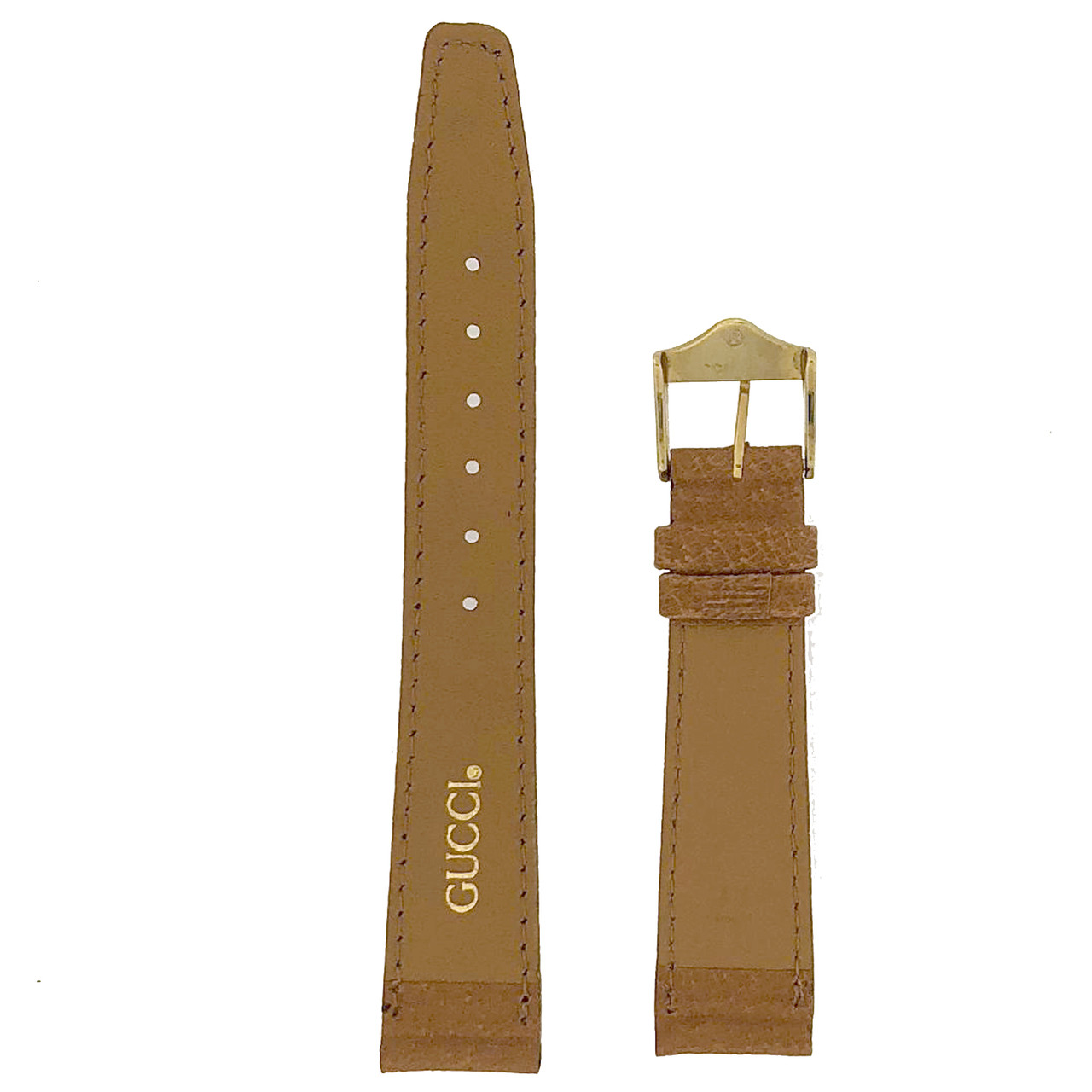Gucci Watch Band 17mm Tan models 2600M 3000M 3800M 7600M 8000M
