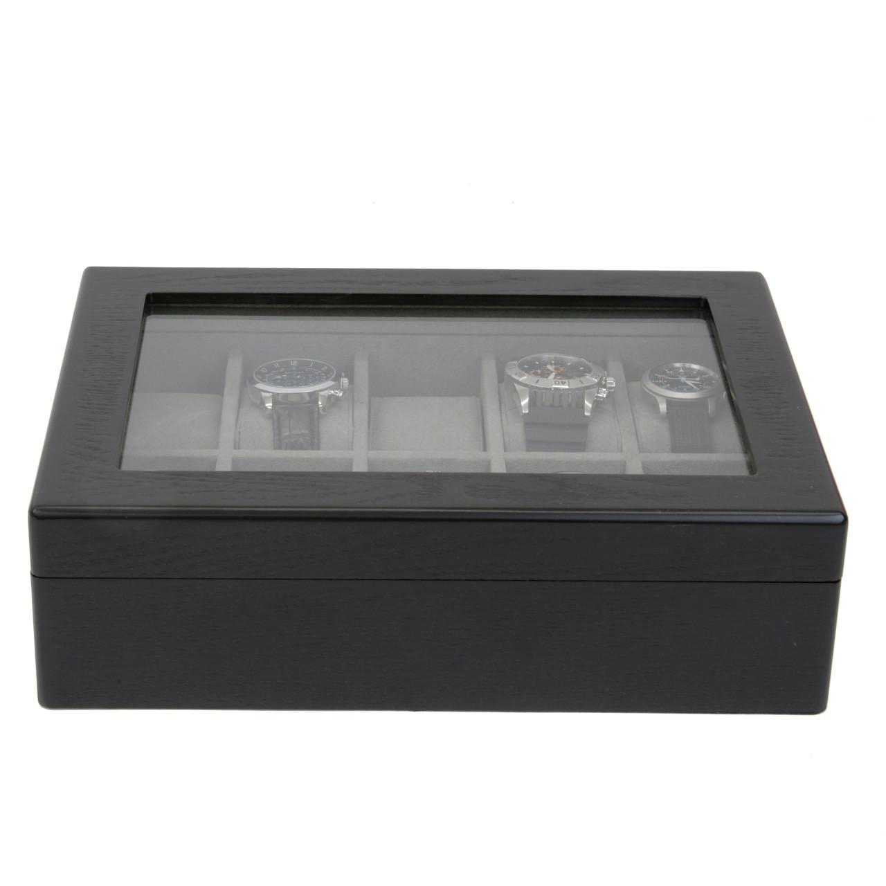 10 Watch Box in Black Ash Finish