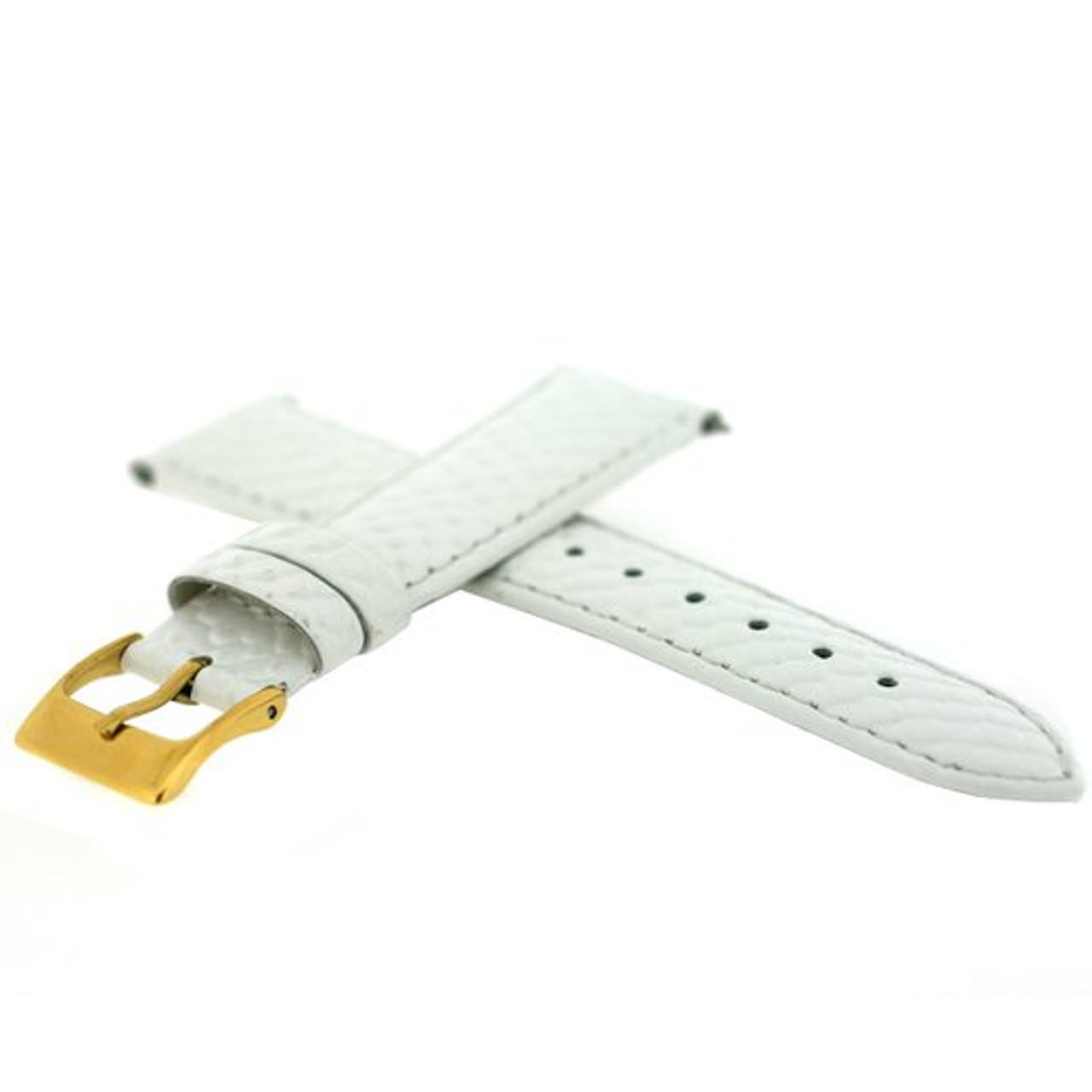 White Snake Grain Watch Band with Quick Release - Side View