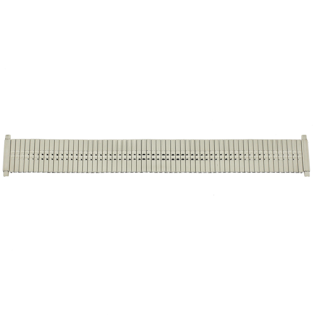 Watch Band Expansion Metal Stretch Silver Color Thin Line fits 17-21mm - Main