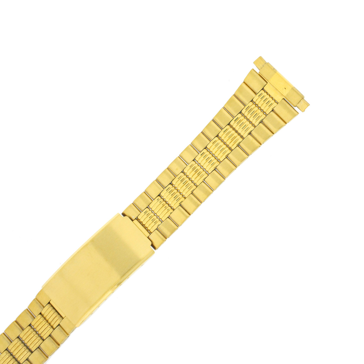 Watch Band Link Metal Gold-Tone Spring Ends 17mm-22mm TSMET221