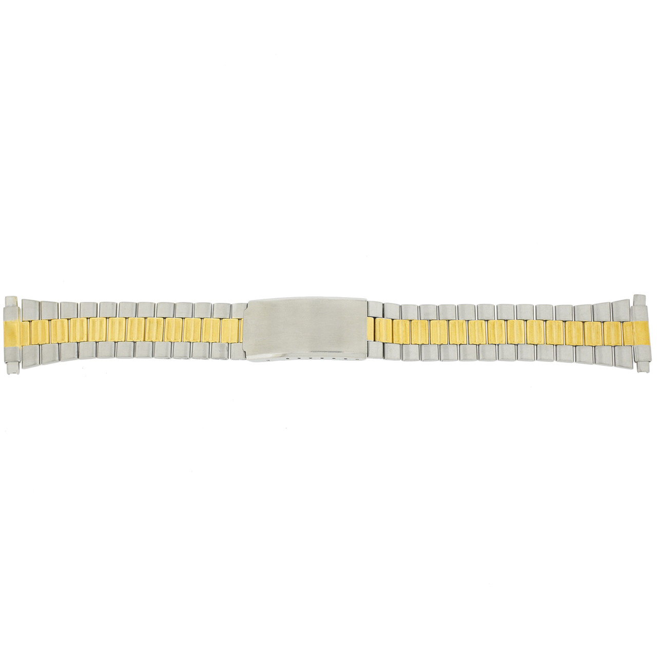 Watch Band Link Metal 2-Tone Spring Ends 17mm-22mm - Main