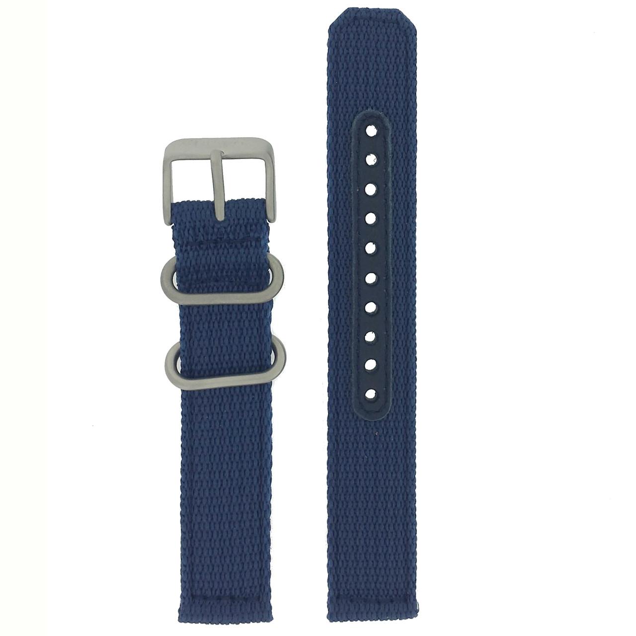 Seiko Watch Band Nylon Blue | Seiko 4K12jZ  | Front