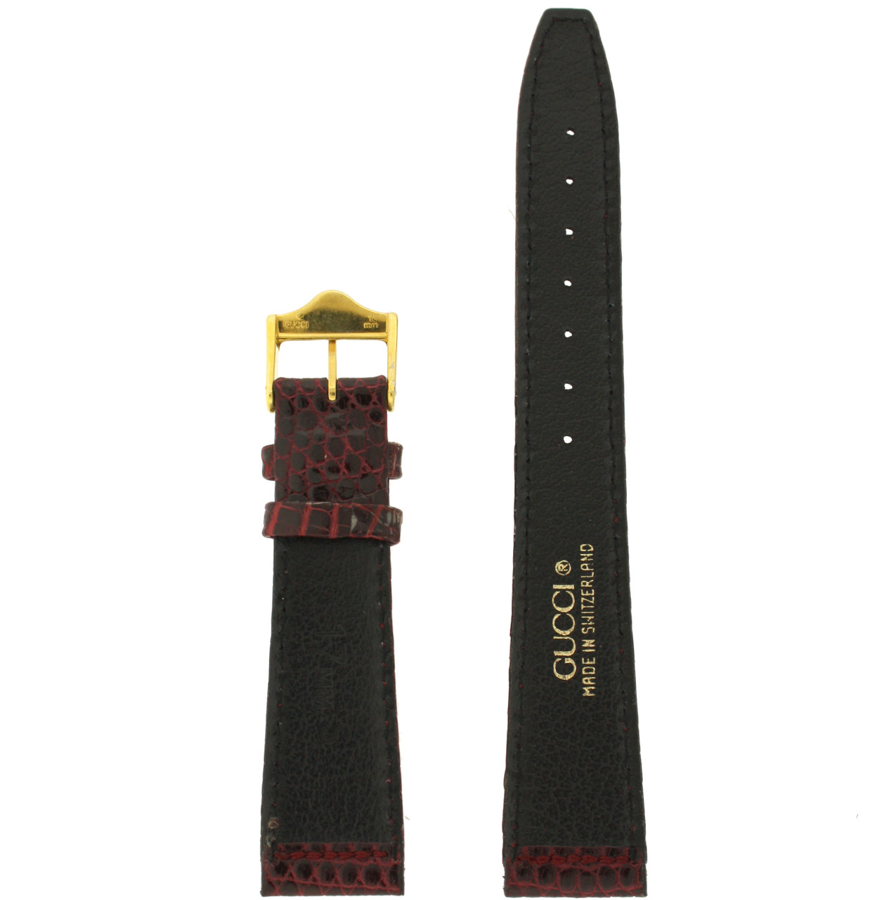Gucci watch band burgundy