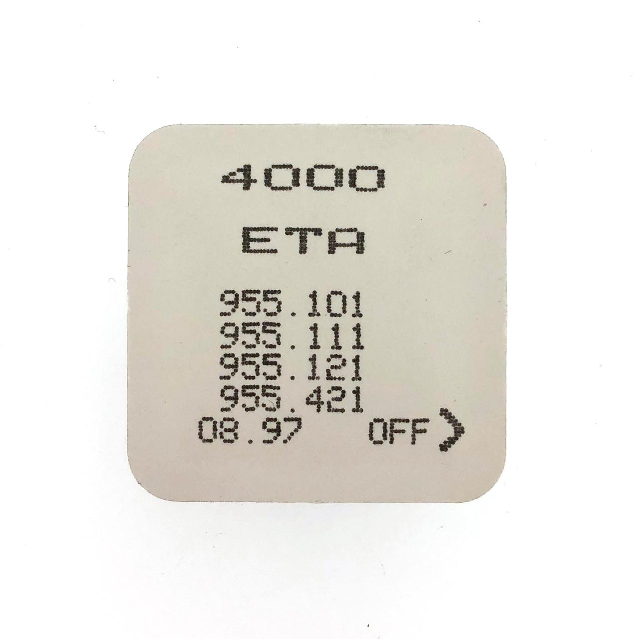 ETA 955.101, 955.111, 955.121, 955.421 4000 Circuit Electronic Module Sealed - Vintage