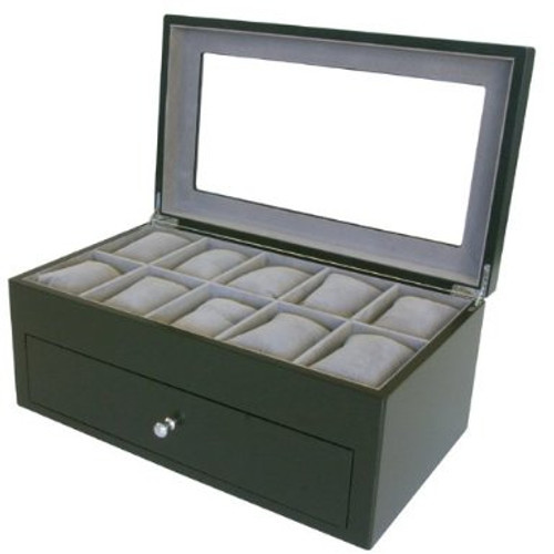 20 Watch Box XL Compartment Clearance Black Finish Tech Swiss - Main