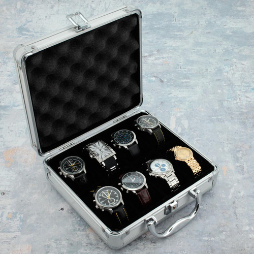 8 Watch Storage Box Aluminum - Main