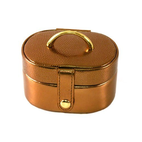 Stylish Mini Leather Bronze Jewelry and Gift Box - Main