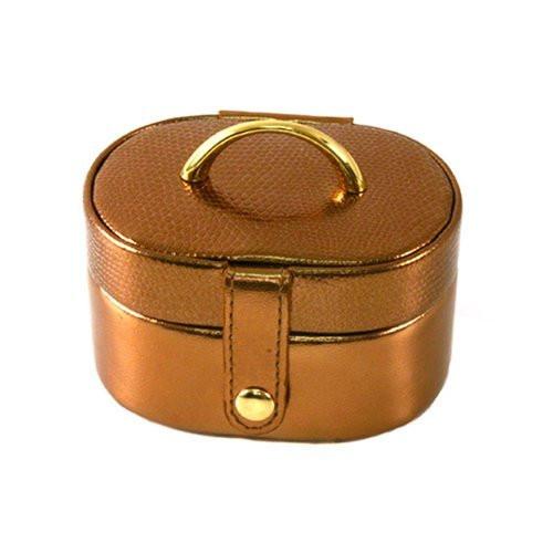 Stylish Mini Leather Bronze Jewelry and Gift Box - Main