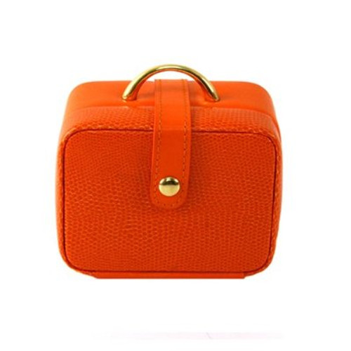 Stylish Mini Square Orange Jewelry and Gift Box