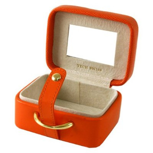 Stylish Mini Square Orange Jewelry and Gift Box - Main