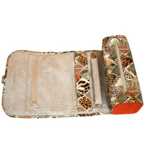 Travel Jewelry Roll Organizer Leopard Print - Main