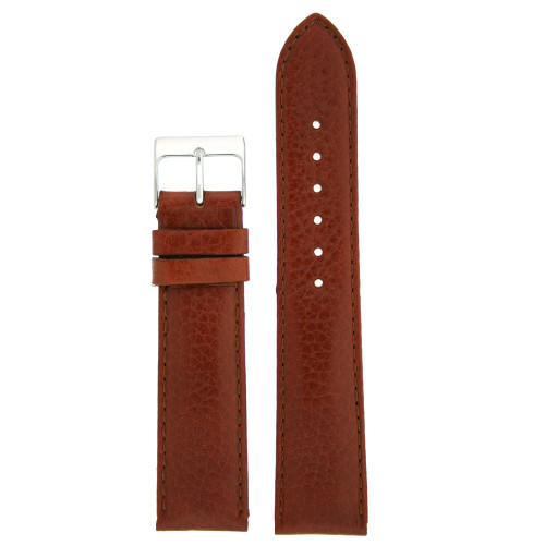 Watch Band Calfskin Leather Brown Comfort padded
