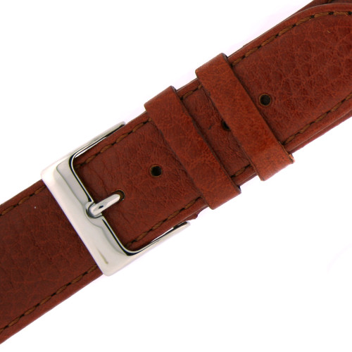 Watch Band Calfskin Leather  Brown Comfort padded - Main
