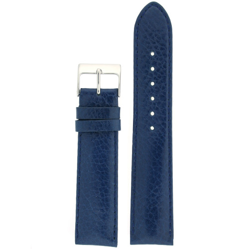 Watch Band Calfskin Leather Dark Blue Comfort padded