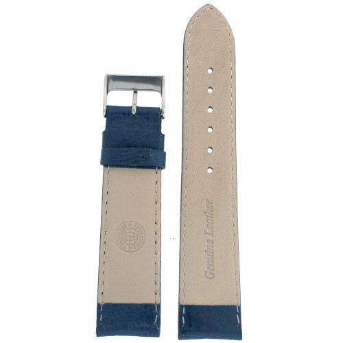 Watch Band Calfskin Leather Dark Blue Comfort padded - Main
