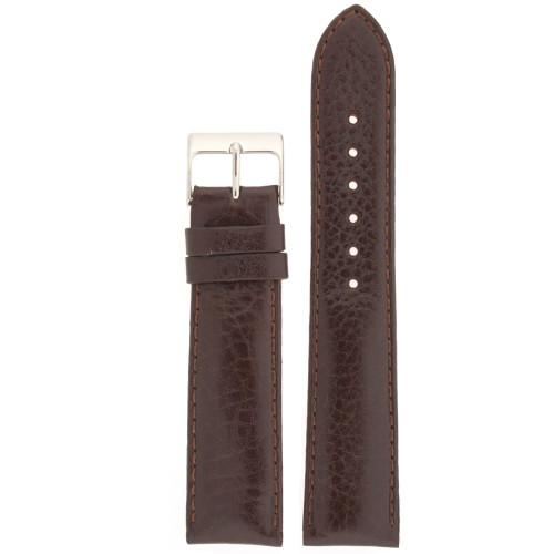 Watch Band Calfskin Leather Dark Brown Comfort padded