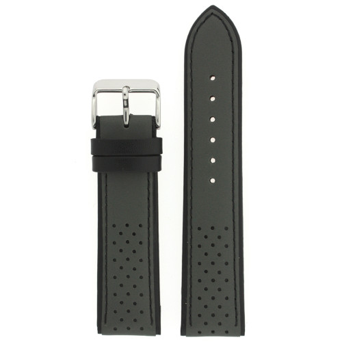 Sporty watch band in gray - front view