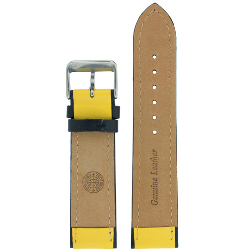 Sporty Watch Strap in Yellow - Interior view - Main
