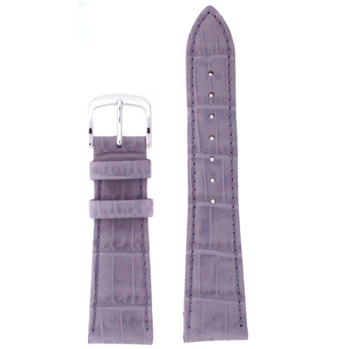 Leather Watch band in Lavender - Top View