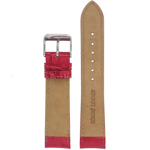 Watch Band Fuchsia Genuine Leather Alligator Grain - Main