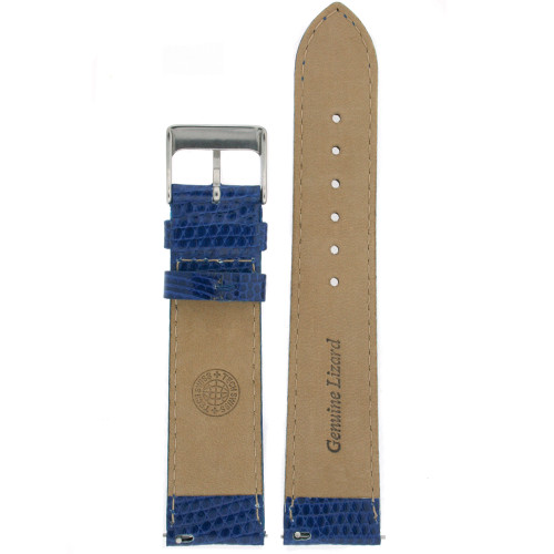 Watch Band Genuine Lizard Leather Strap  Royal Blue - Main