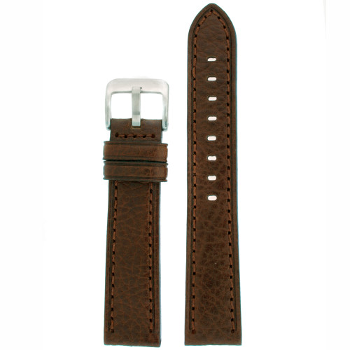 Watch Band in Dark Brown Leather - Top View