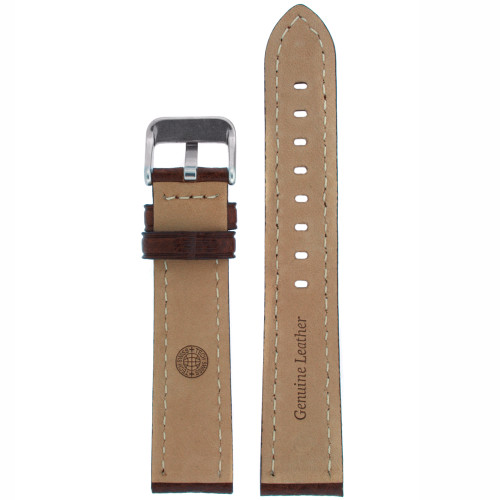 Watch Band in Dark Brown Leather - Bottom View - Main