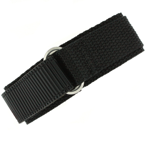22mm Black Watch Band | 22mm Black Watch Strap | 22mm Sport Black Watch Band | Watch Material VEL100BLK-22mm | Wrap