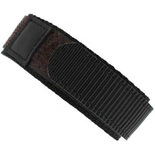 16mm Watch Band | Black Brown Contrast Sport Strap | 16mm Sport Watch Band | Watch Material VEL100BRN | Main