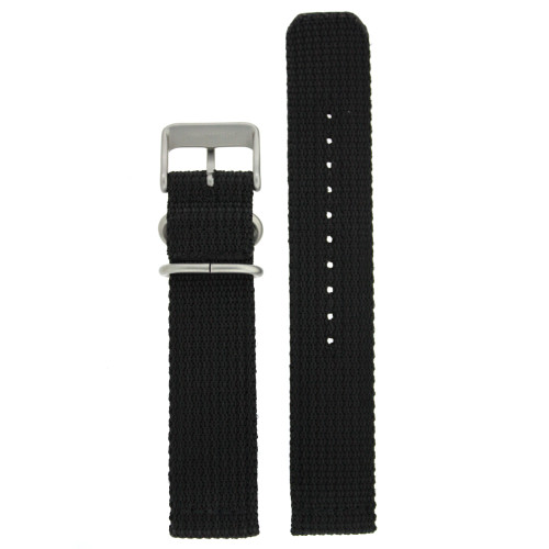 Nylon Watch Band Military Sport Strap Black Stainless Heavy Buckle - Main